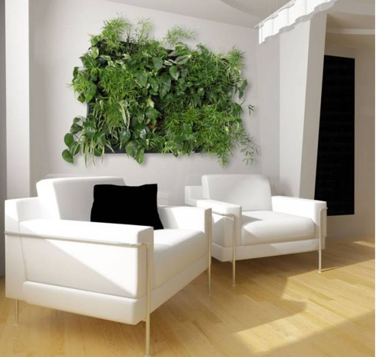 Jardines verticales o muros verdes beneficios y - Muros verdes verticales ...